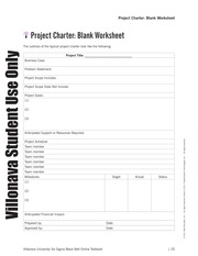 023_Project Charter - Blank Workshee