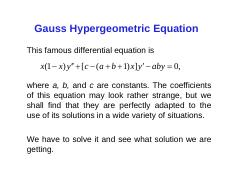 1Gauss's hypergeometric series