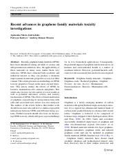 15. Recent advances in graphene family materials toxicity investigations.pdf