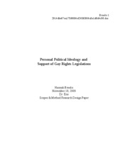 Research Design Paper - Scopes and Methods of Political Research