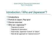 Introduction to Japanese