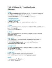 TMD 303 Chapter 11 Class notes