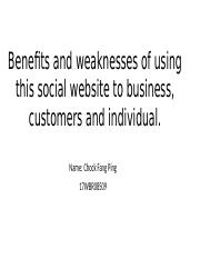 Benefits and weaknesses of using this social website-PPT.pptx