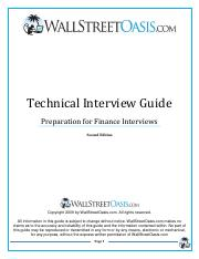 WSO Technical Interview Guide