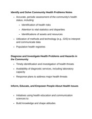 Identify and Solve Community Health Problems Notes