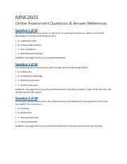 MNE2601 Online Assessment and Answer References-1.pdf