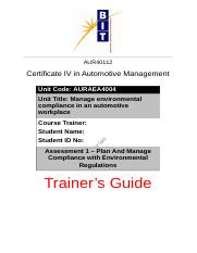 Assessment 1 - Trainer's Guide.docx