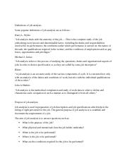 Definitions of job analysis.docx