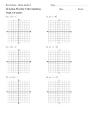 Unit 1L WS - Graphing Absolute Value Equations