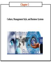 chapter 05 Culture, Management Style, and Business Systems.ppt