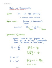 Units and Dimensionality