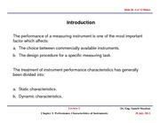 ME526_LECTURE NOTES_Lecture 2.Performance Characteristics of Instruments