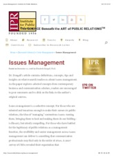 Issues Management | Institute for Public Relations.pdf