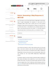 Ctm: control tutorials for matlab.