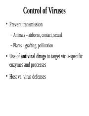 Control of Viruses and Microbial Growth (4)