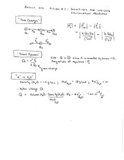 PHYS 102 Fall 2014 LON CAPA Calculation Problems 1 Solutions