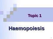 Topic 1 - Haemopoiesis