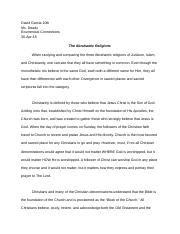 buddhism reflection paper jun david garcia th ms deady 4 pages abrahamic religions essay 30 apr 15