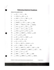 Chemical Reactions Worksheet Grade 10 Together With Together With ...