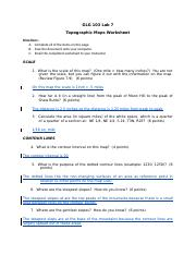 GLG103 Lab 07 - Topographic maps Worksheet_Completed.doc