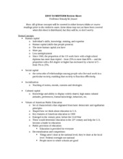 EDUCATION 50: Exam Review Sheet (Jenner)