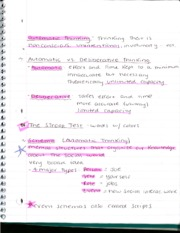 Automatic and Deliberative Thinking Notes