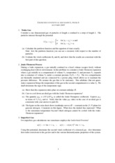 Statistical Mechanics and RationingClass Notes week 5
