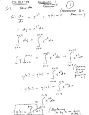 Homework A Solutions on Applied Differential Equations
