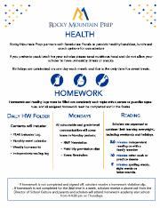 Health & HW 1-pager