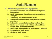 Tutorial Three Auditing I