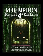 1 Redemption Manual 4-5 Edition