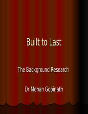 The Background Research