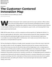 The Customer-Centered Innovation Map