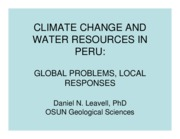 Final CLIMATE CHANGE AND WATER RESOURCES IN PERU