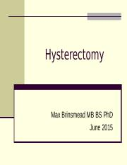 Hysterectomy.ppt