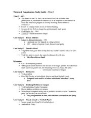 Theory of Organization Study Guide 2