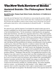 The Philosophers' Brief by Ronald Dworkin, Thomas Nagel, and Robert Nozick | The New York R