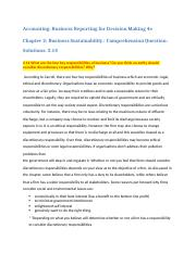 Accounting Business Reporting for Decision Making 4e Chapter 2 Business Sustainability- Comprehensiv