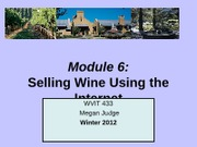 Module 6- Selling wine over the Internet