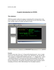 -Introduction to stata 2011