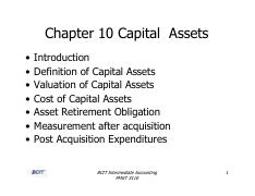 Chapter 10 - Capital Assets