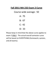 Fall2011MA232Exam2Curve