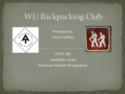 WU Backpacking Club