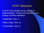 L27_Project Scheduling - PERT