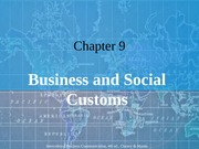 Chapter 09 Business and Social Customs