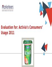Activia Usage Evaluation2
