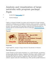 Analysis and visualization of large networks with program package Pajek.docx