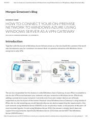 How to connect your on-premise network to Windows Azure using Windows Server as a VPN gateway _ Morg