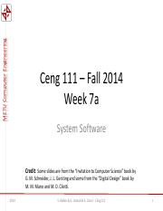 Ceng111-2014--Week7a -- System Software.pdf