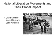 History Lecture #16 National Liberations Movement